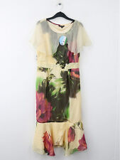 BNWT Traffic People Buttermilk 100% Silk Print Tea Dress Size M (UK 12)