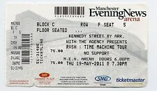 Rush Concert Ticket Manchester UK Time Machine 2011 Tour