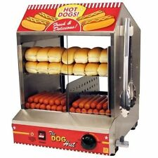 Commercial machine HOT DOG HOTDOG machine vapeur + autocollant Hotdog