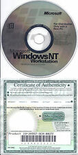 Microsoft Windows NT Workstation 4.0 (CD only)