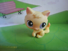 Littlest Pet Shop Yellow Orange KITTEN 248 Purple Eyes Target Collectors LPS