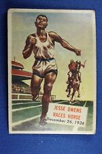 1954 Topps Scoop - #128 Jesse Owens Races Horse - Good Condition