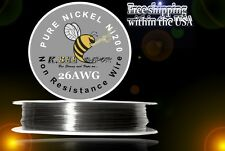 Ni200 - 100 ft 26 Gauge AWG Pure Nickel 200 Non Resistance Wire 0.40mm 26g 100'