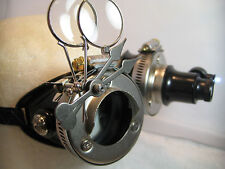 Pro Steampunk Safety Goggles Nickel Steel Clockwork Metal Top Hat Lab Gear LED