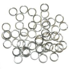 M792f Silver Color Stainless Steel 6mm Round Split Ring Jewelry Component 50/pkg