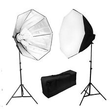 Pro 5-socket Photo Studio Video continuous softbox lighting kit photography set
