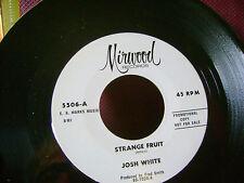 ORIG PRESS MINT/M- BLUES 45~JOSH WHITE~STRANGE FRUIT/JELLY BLUES~Billie holiday
