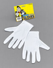 Unisex White Short Gloves Captain Clown Magician Santa Halloween Party Accessory