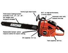 "Echo Chain Saw CS-800 36"" Bar Fast Free Shipping + Oil + File!"