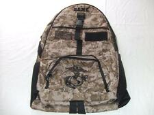 USMC MARINES BACKPACK DAY PACK  BOOK COMPUTER  BAG DESERT CAMO  EMBROIDERED