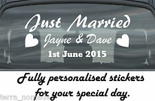 Just married wedding Day Car Window Banner adesivo segno personalizzato