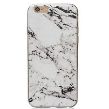Slim Retro Granite Marble Pattern Soft TPU Phone Case Cover For iPhone 5 6S Plus