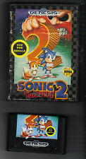 SONIC THE HEDGEHOG 2 SEGA GENESIS GAME CARTRIDGE PLUS CASE two