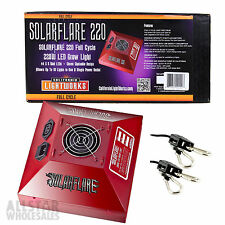 California Lightworks Solar Storm 220w Full Cycle LED Grow Light + FREE Ropes
