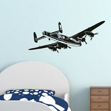 Airplane Wall Decal For Boys Room Bomber Aeroplane Wall Sticker