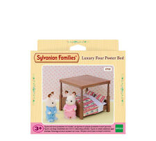4702 Sylvanian Families Luxury Four Poster Bed & Accessories Childrens 3yr+