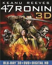 47 Ronin 3D (3D Blu-Ray/DVD, 2014, 3-Disc Set, Includes Digital Copy/Slip Cover