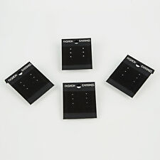 100Pcs Fashion Jewelry Earrings Hanging Holder Display Hang Cards Plastic Black