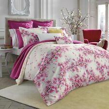 NIB Bluebellgray Cherry Blossom Twin Comforter & Sham Set Floral Pink/White
