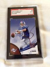 Eli Manning Autographed '06 UD Sweet Spot SGC CERTIFIED PERS OBTAINED COA