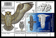 FINLAND. Owls. Sheet of 5. 1998, Scott 1087. MNH (BI#13)