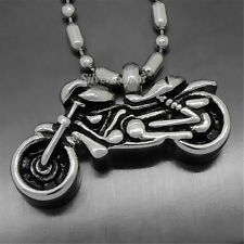 Silver Motorcycle Cremation Jewelry Keepsake Memorial Urn Pendant with Necklace