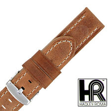 Hadley Roma MS854 18mm Rust Oil Tan Distressed Leather  Mens Watch Strap