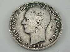 1873 GREECE ONE 1 DRACHMA SIVER COIN