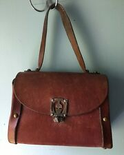 VTG Classic Etienne Aigner Lunch Box Style Purse Leather Handmade Handbag