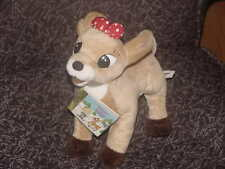 "11"" CVS Rudolph Clarice Plush Toy With Mini Little Golden Book 1998"