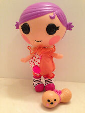 "Lalaloopsy Squirt Lil Top Little Sisters 8 ""Doll Clown Pet Peanut Toy Retired"