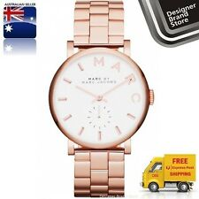 NEW MARC BY MARC JACOBS LADIES WATCH BAKER ROSE GOLD TONE S/STEEL MBM3244 -MELBN