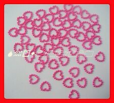 500 Pink Pearl Open Heart Wedding Table Confetti Decoration,12mmx12mm (FS1)