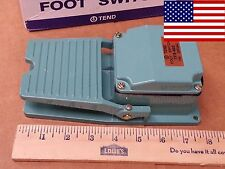 Tend Heavy Duty Cast Aluminum Foot Pedal SPDT Momentary Switch 15A *FAST US SHIP