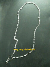 wholesale 10pcs sliver necklace chain For Floating Memory Living Lockets N004