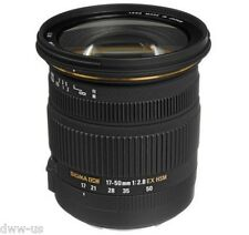 Sigma 17-50mm F2.8 EX DC OS HSM Zoom Lens for Nikon Mount New w 77mm UV Filter