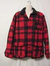mens old navy vintage style hunting jacket XXL nwt red black plaid sherpa collar