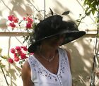 Damenhut traumhafter Organzahut in Schwarz Anlasshut Hochzeit Ascot Anlasshüte