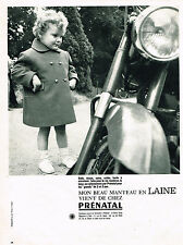 PUBLICITE ADVERTISING   1962   PRENATAL   vetements enfants manteau en Laine