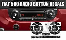 FIAT 500 RADIO STEREO WORN PEELING BUTTON REPAIR DECALS STICKERS