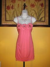 NWT  bebe Pink Rosette Shift Dress Size S