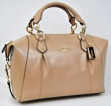 Coach F58410 Colette Leather Satchel Hand & Shoulder Bag Beechwood NWT
