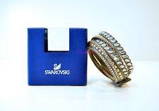 Swarovsk Slake Pulse Bracelet Beige Gold 5241294 Authentic Brand New In Box