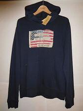 new Ralph Lauren Denim & Supply Polo hoodie American USA US flag XL, MSRP $79.50