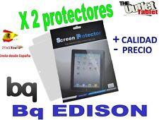 Pack 2 Protectores de pantalla para bq Edison ,  Edison 3G Fnac 10 Blister