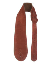 Rust Suede Comfy Guitar Strap Real Leather Hand Made In The UK By Leathergraft