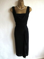 Coast black cowl ruched party evening dress size 16