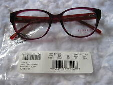 New Ted Baker London Glasses Frames Raspberry Horn 52-16-140 B855