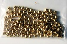 100 Small Brass  Beads 4mm with 1.5mm hole