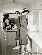 Women Working in Red Cross Canteen Food Truck - 1942 - Historic Photo Print
